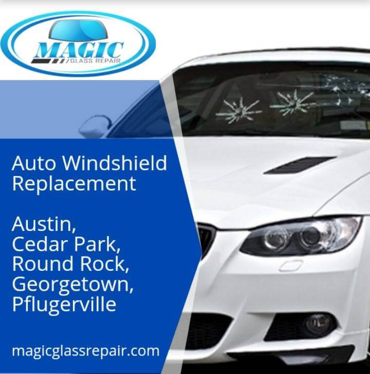 auto windshield replacement banner blue